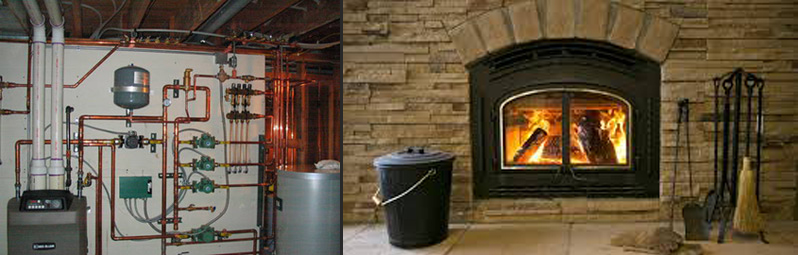 boiler and fireplace